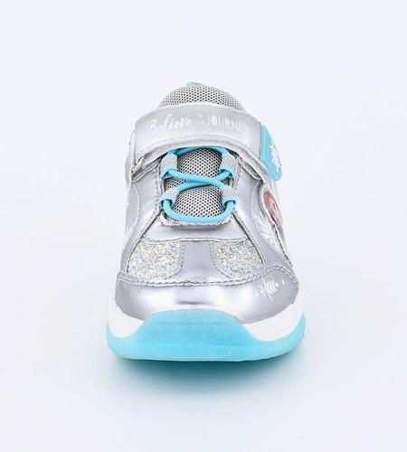 zapatillas footy disney frozen plateada con luces fx101