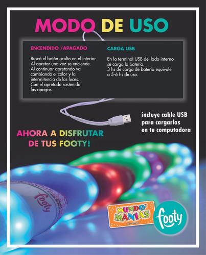 zapatillas footy luces led carga usb fxl61 62 mundo manias