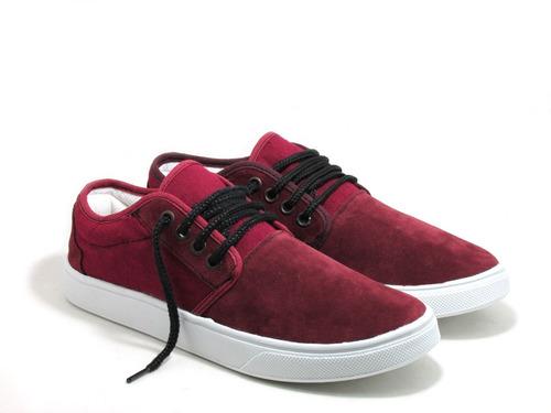 zapatillas gamuza y lona colores