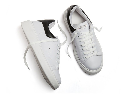 zapatillas genesis urbana hombre blanco negro envió gratis