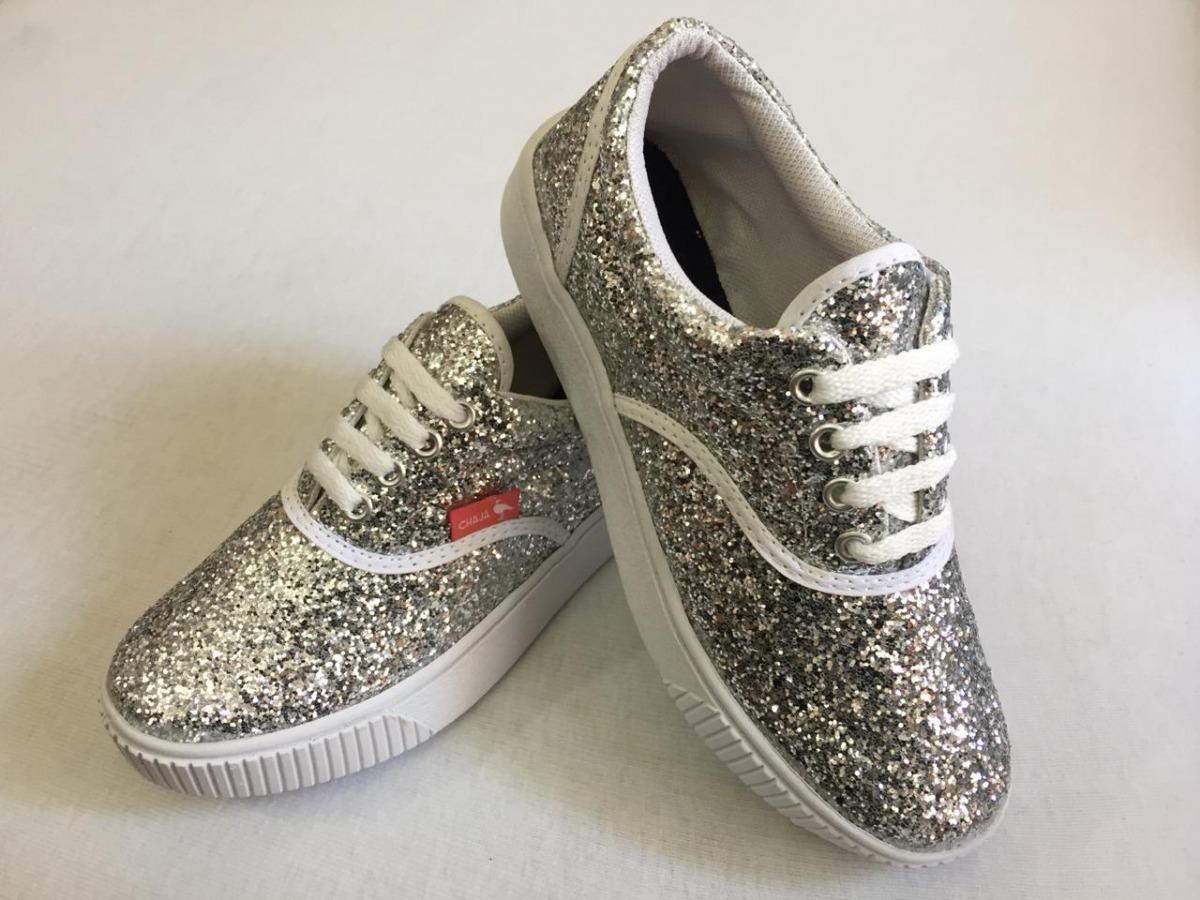 3311d45b8899 zapatillas glitter brillo dama urbanas. Cargando zoom.