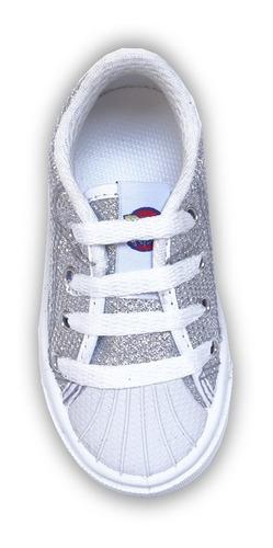 zapatillas glitter con puntera