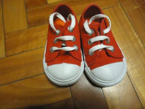 zapatillas greep infantiles de lona talle 18