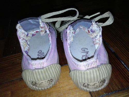 zapatillas grisino talle 22,23 miden 17 cm