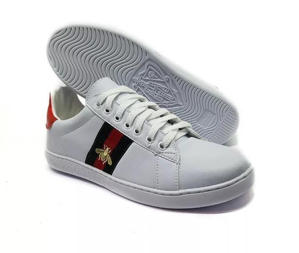 Ace leather sneakers  Gucci  Shoes  GUCCI zapatillas gucci hombre falsas c1e5db7c16a