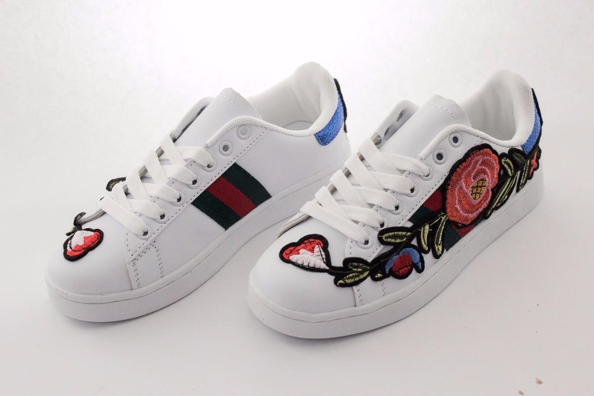 Gucci Zapatillas Bordadas Ace White Hombre Zapatos 70f51ca2f75