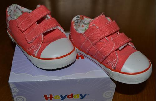 zapatillas heyday abrojo coral t 18-21 little treasure