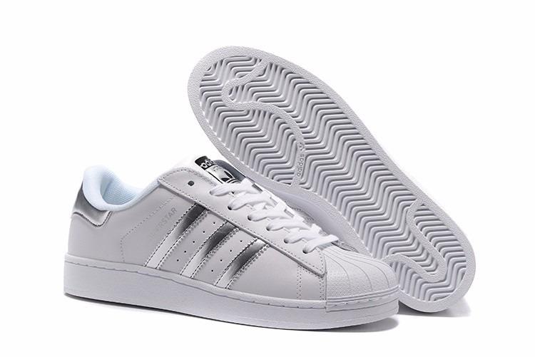 wholesale dealer 69afd 8d97a Silver Zapatillas Clasica Mujer Adidas Hombre Superstar MpGUqSzV