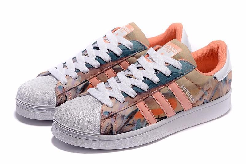 Zapatillas Hombre Superstar Mujer Adidas Flower Diseño T1clFKu3J