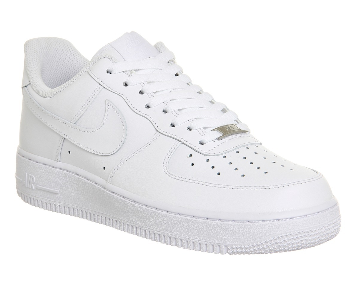 Zapatillas Nike Air Force One 1 Hombre Mujer White Nacional