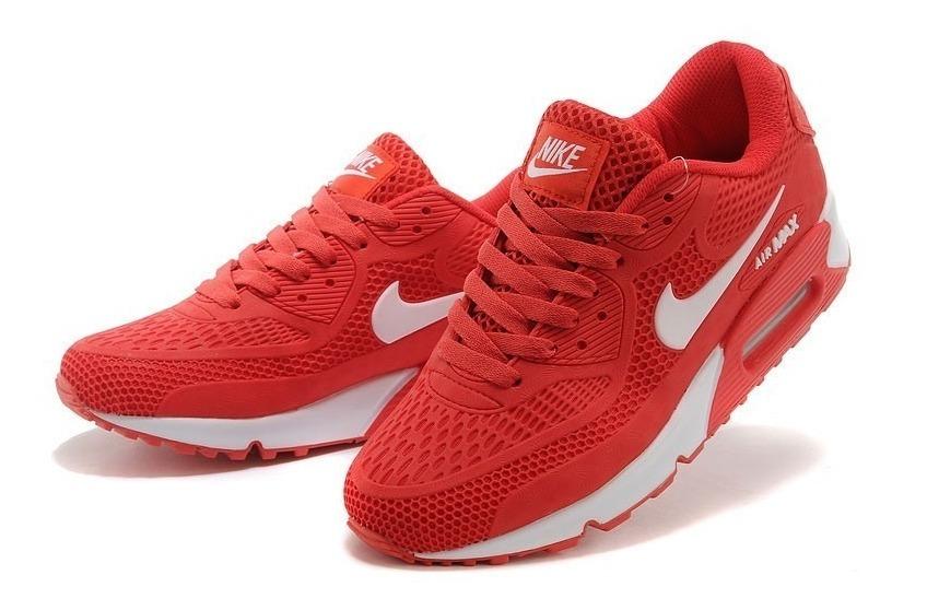 Zapatillas Hombre Mujer Nike Air Max 90 Roja / Sneakerbox