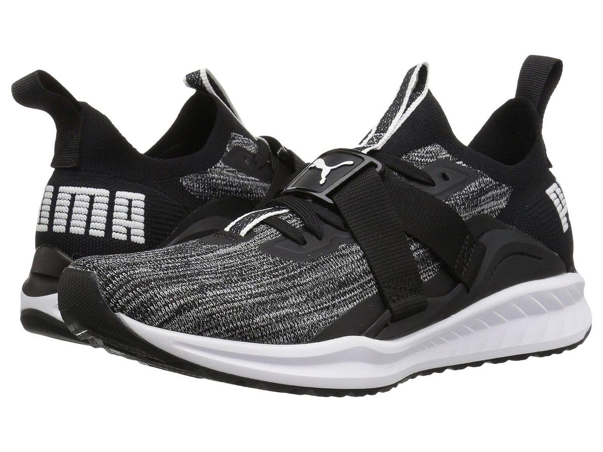 PUMA Ignite Evoknit Lo Hypernature Wn Sneaker in Black