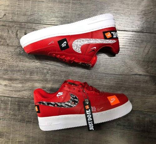 zapatillas importadas/ nike air force1 just do it/ caña baja