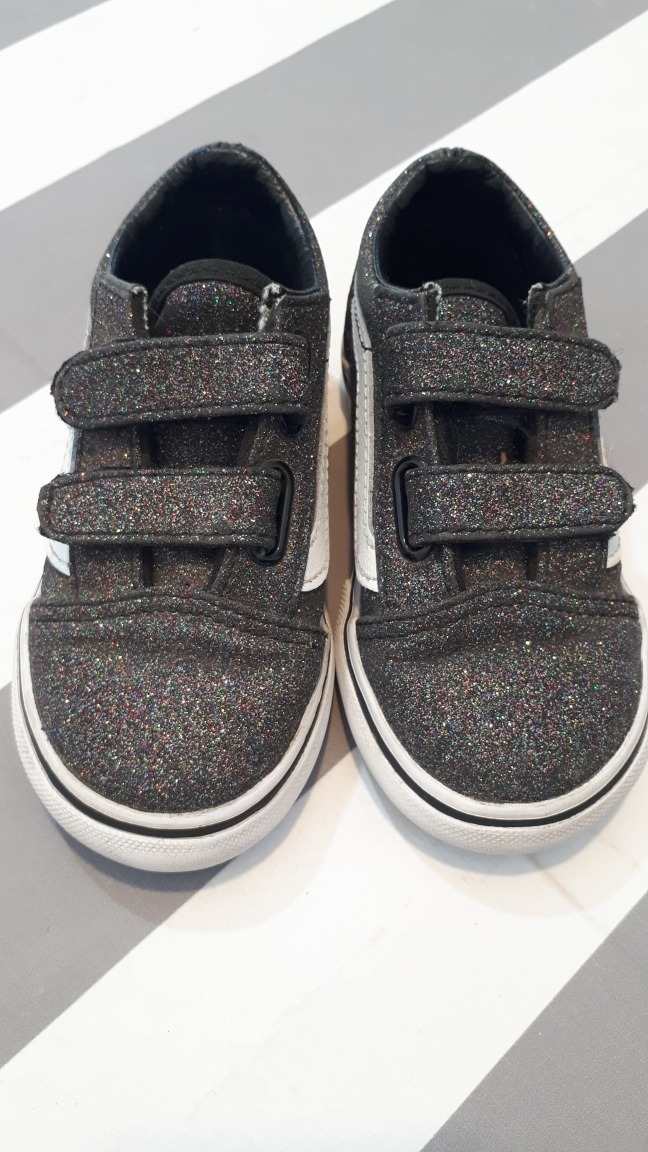 Zapatillas Infantiles Vans Con Brillitos. Impecables! $ 1.100,00
