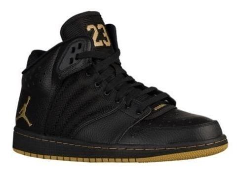 zapatillas jordan 1 flight 4 total negra dorada