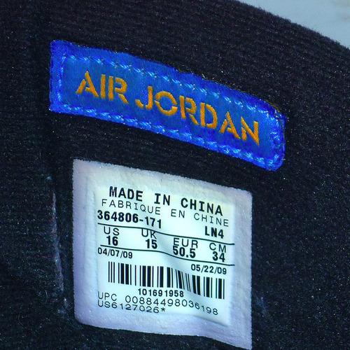 zapatillas jordan air 23 talla 50,5 usadas 34 cm. originales