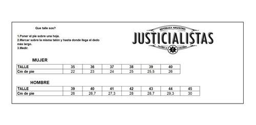 zapatillas justicialistas cooke cuero oxido -cosidas-