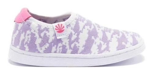 zapatillas kioshi poki camo lila blanco