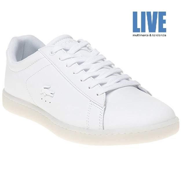2cb675c94692e Zapatillas Lacoste Carnaby Evo 118 3 Blanco Mujer-original -   3.495 ...