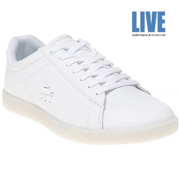 3 Lacoste Original Zapatillas Blanco Mujer Carnaby Evo 118 dBCoreWx