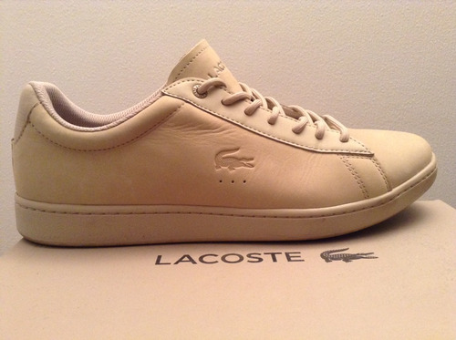 zapatillas lacoste color beige talla 44 nuevas