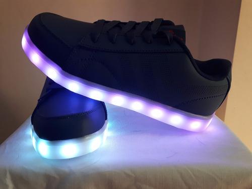 zapatillas led color azul  usb recargables