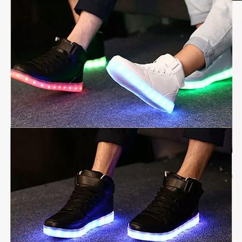 zapatillas led con control 7 luces recargables 21 al 32
