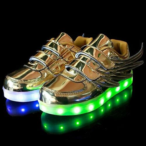 zapatillas led dorado 30 31  envio a todo el perú