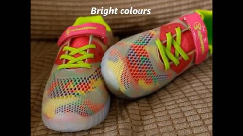 zapatillas led!! modelo rubber y recargable t.27/34