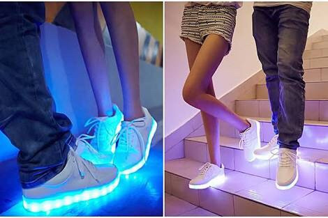 zapatillas led!! modelo teen y recargable t.29/34