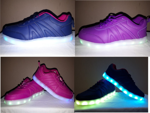 zapatillas led unixes 10 colores led 3 colores recargables