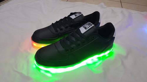 zapatillas led unixes 7 colores led recargables envio