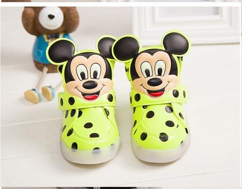zapatillas leds unisex mickey mouse  a ( pedido )