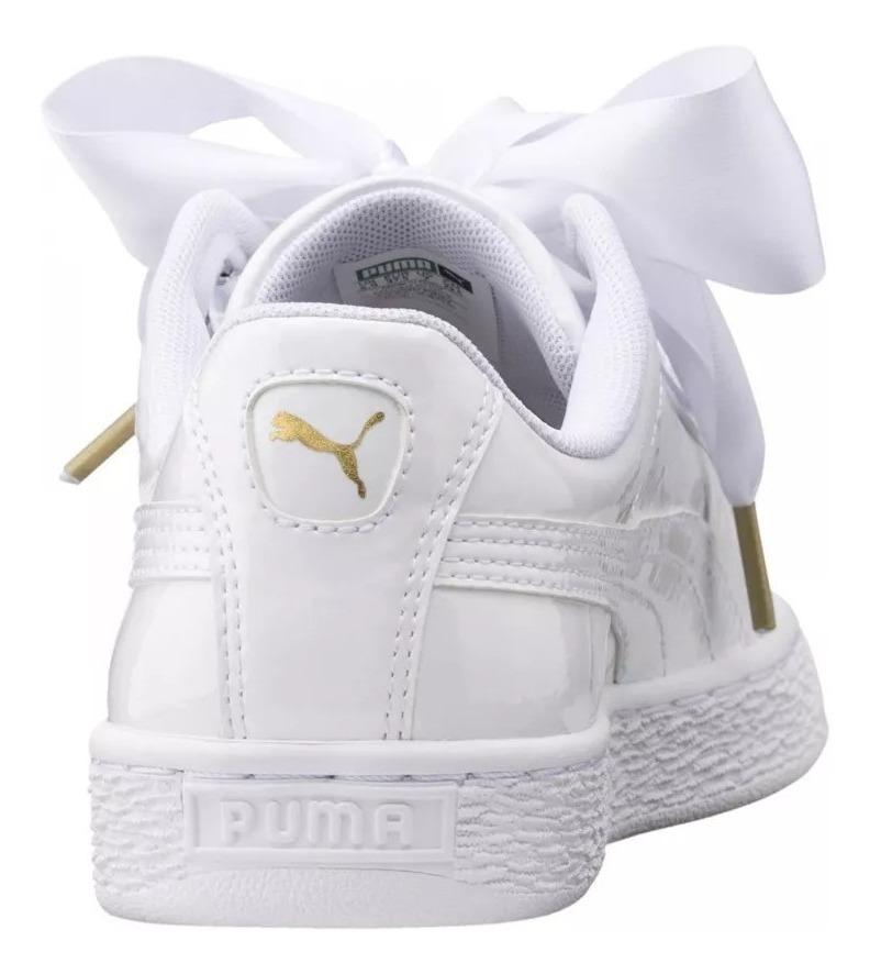 puma basket heart blanco mujer