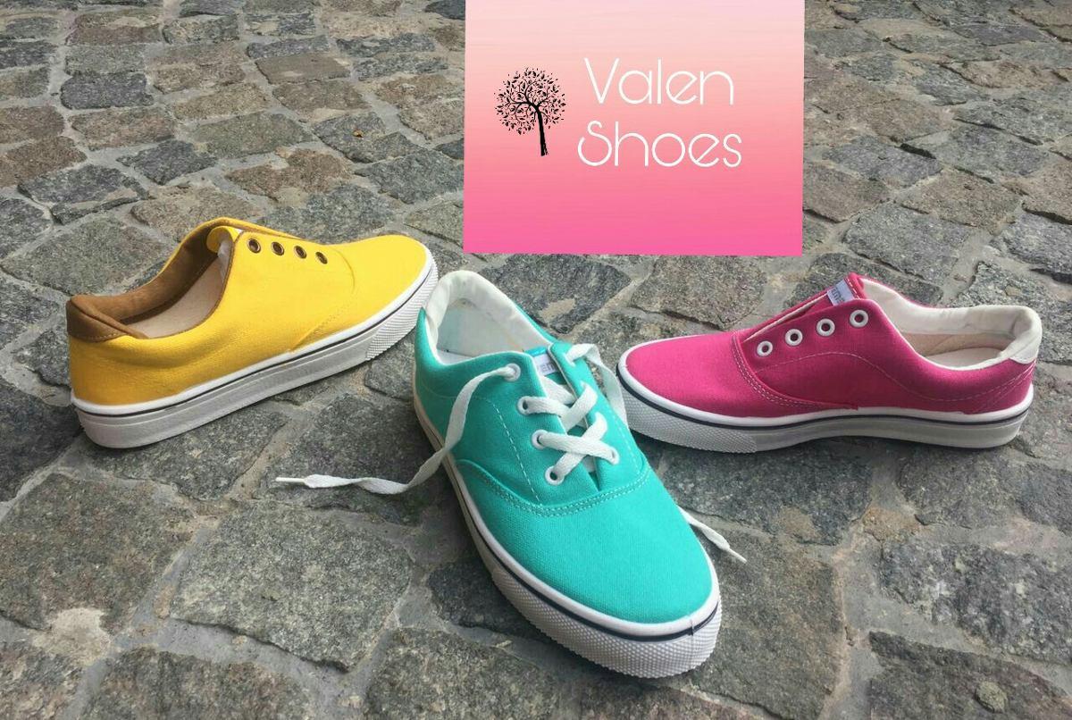 f935a7ef691 Zapatillas Lona Mujer Unisex Diseño Colors - $ 450,00 en Mercado Libre
