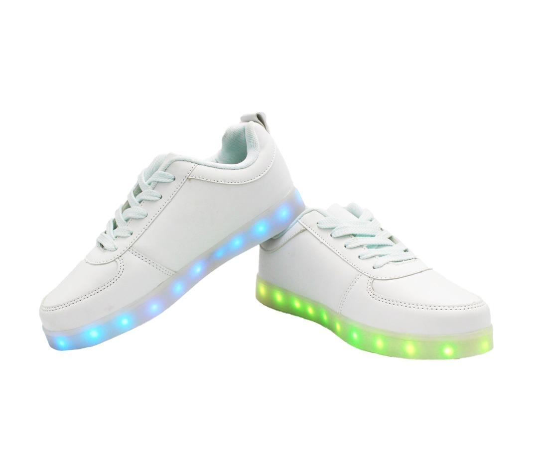 duradero en uso seleccione original zapatos de otoño Zapatillas Luces Led 7 Color Blanco Hombres Niños Adultos