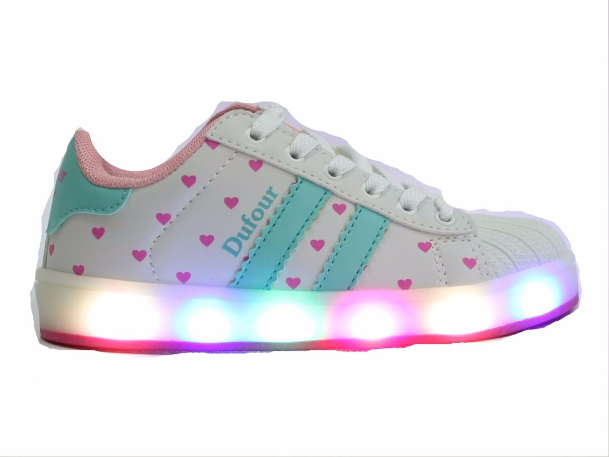 c28c9163159d2 zapatillas luces led blancas rosas turques para niñas dufour. Cargando zoom.