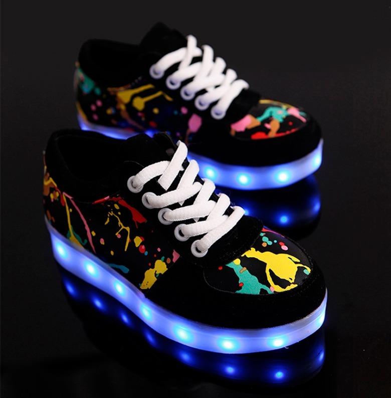 calidad primero grandes ofertas en moda orden Zapatillas Luces Led Usb Recargable 7 Colores Hombre Mujer 4