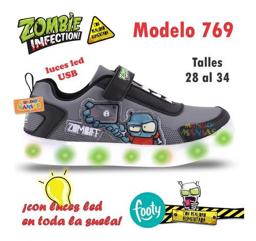 zapatillas luces led usb zombies footy 769 770 mundo manias