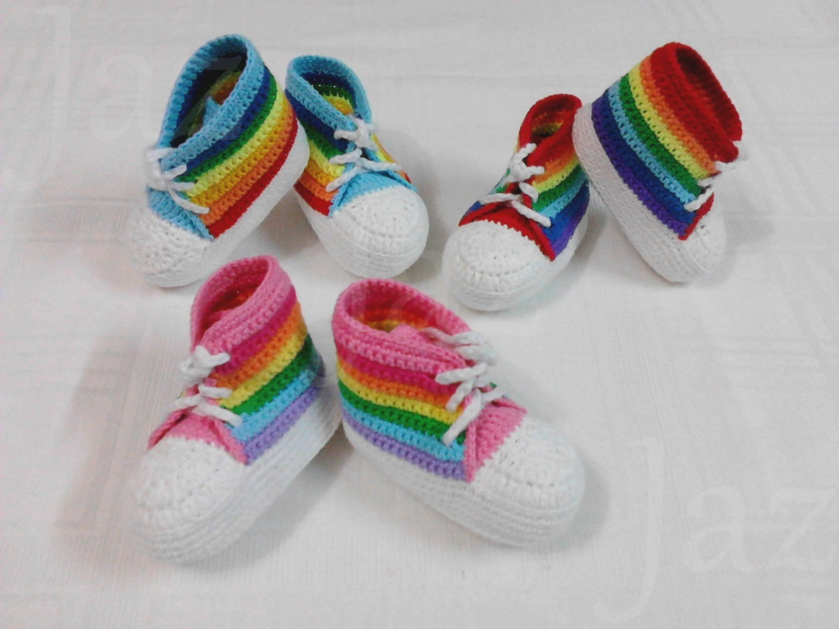 76e36ba9a zapatillas marineras tejidas crochet para bebés 0 a 6 meses. Cargando zoom.