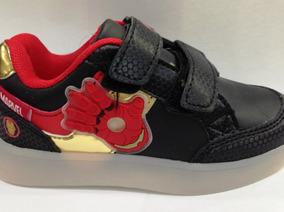 Zapatillas Marvel Iron Men Casual Velc Luces sagat Deportes