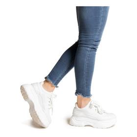 Zapatillas Moda Mujer Con Plataforma Sneakers Indra Varsovia