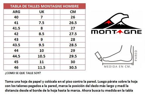 zapatillas montagne hombres action azul/rojo - 1057c3hc