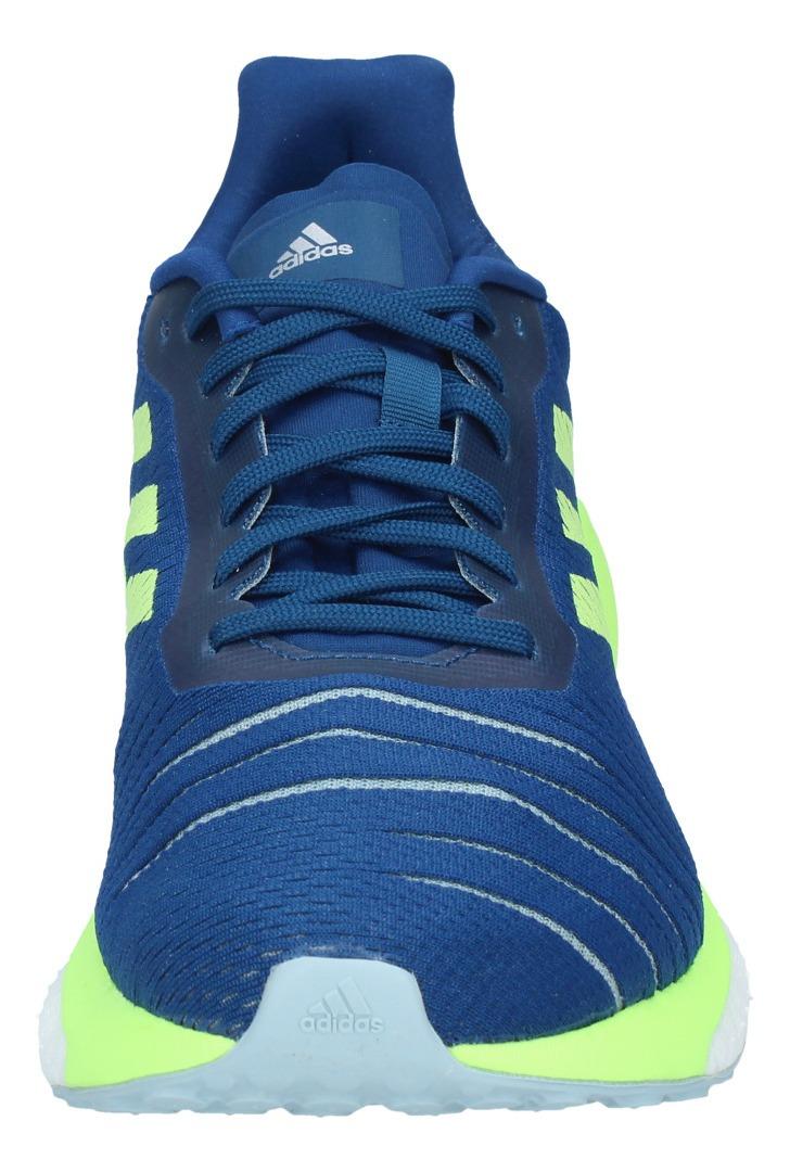 Zapatillas Mujer Adidas Running Solar Drive Azul Amarillo