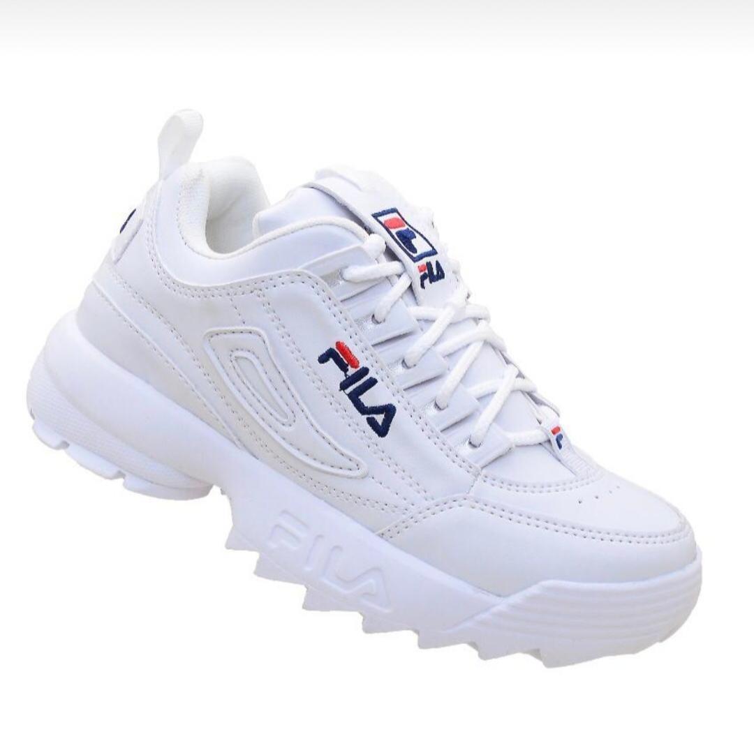 bb5013d121745 zapatillas mujer fila disruptor blancas urbanas. Cargando zoom.