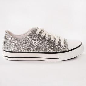 Zapatillas Mujer Glitter Plata Sealand All Star Converse