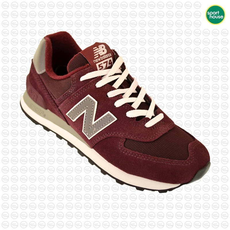 low priced 23808 f0e78 Zapatillas Mujer New Balance W-574 Classic Original Bordó