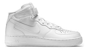 Zapatillas Mujer Nike Air Force 1 Mid Cuero Botitas Blancas
