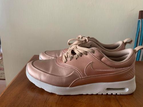 zapatillas mujer nike air max thea rosado metalizado