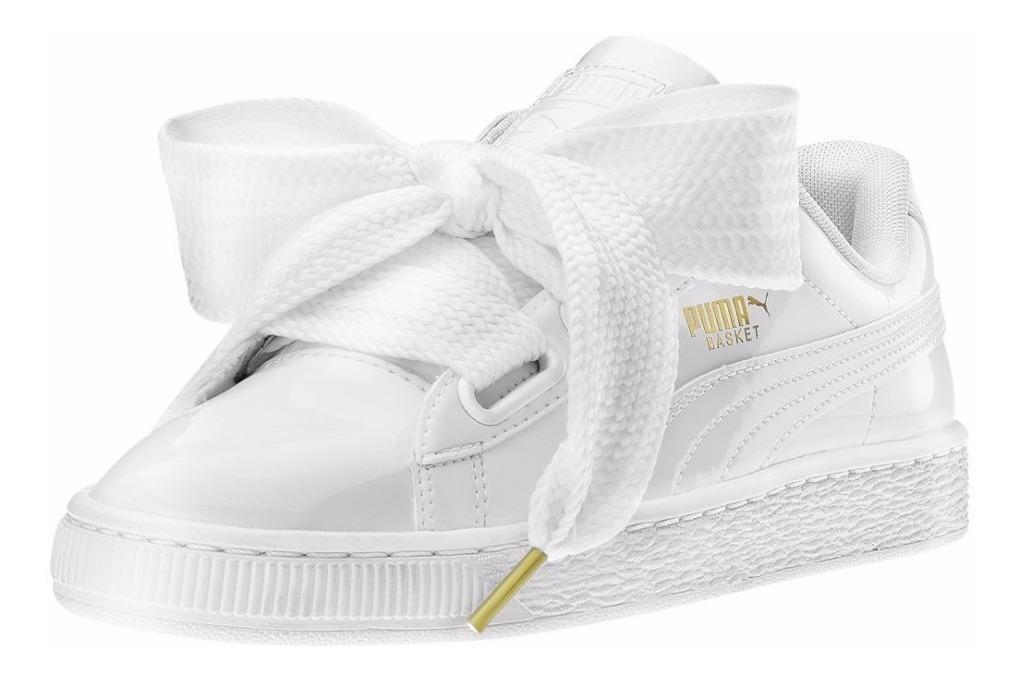 puma basket blancas mujer